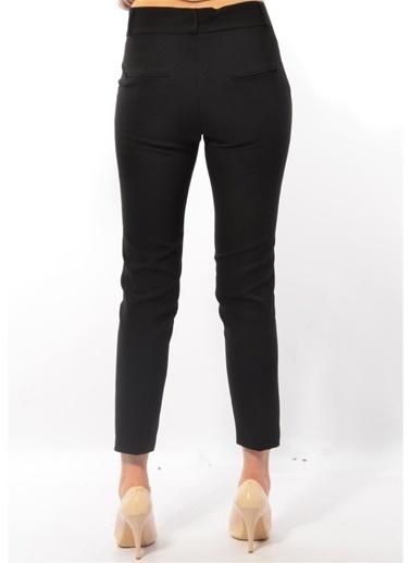 Modaplaza Kadın Pantolon Siyah Belli Bilekte Siyah